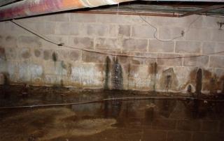 Moisture. Basement Leak